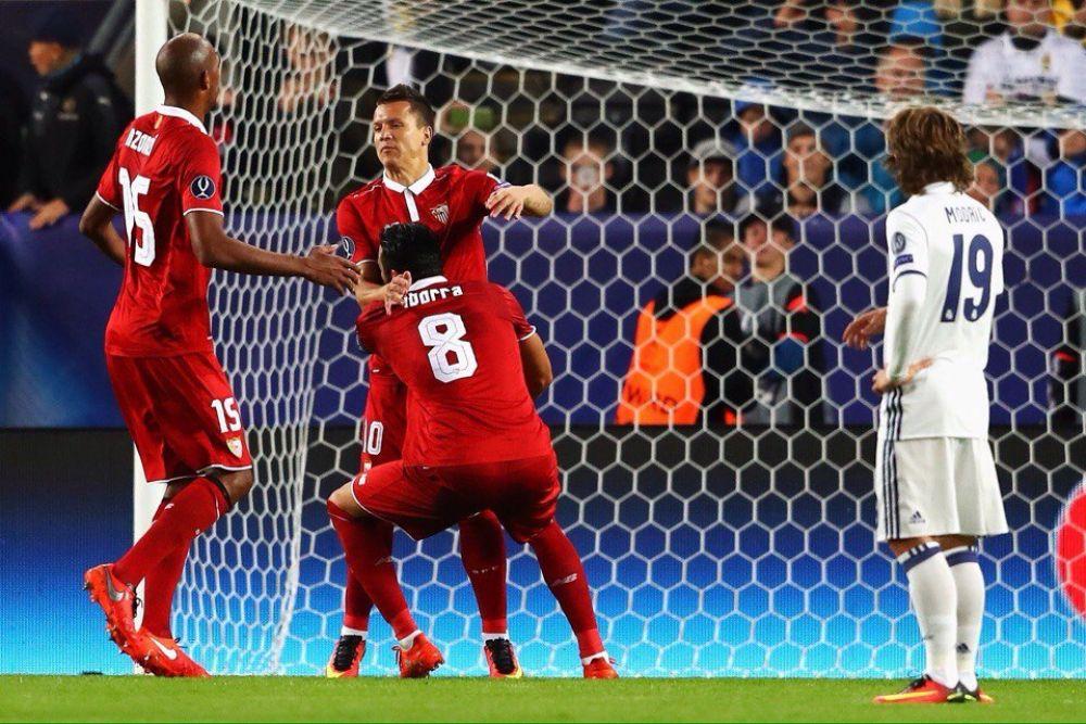 Коноплянка сумел отличиться в суперкубковом матче забитым голом с пенальти. Это был тот гол, который вывел Севилью в лидеры со счетом на табло 1-2