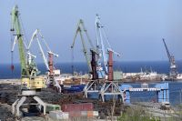 Порт Махачкалы.