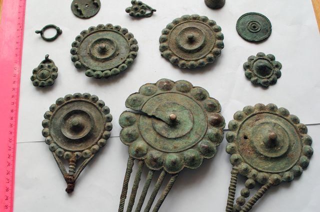 Нагрудное боевое украшение женщин-воительниц, живших на территории современного восточного Татарстана.