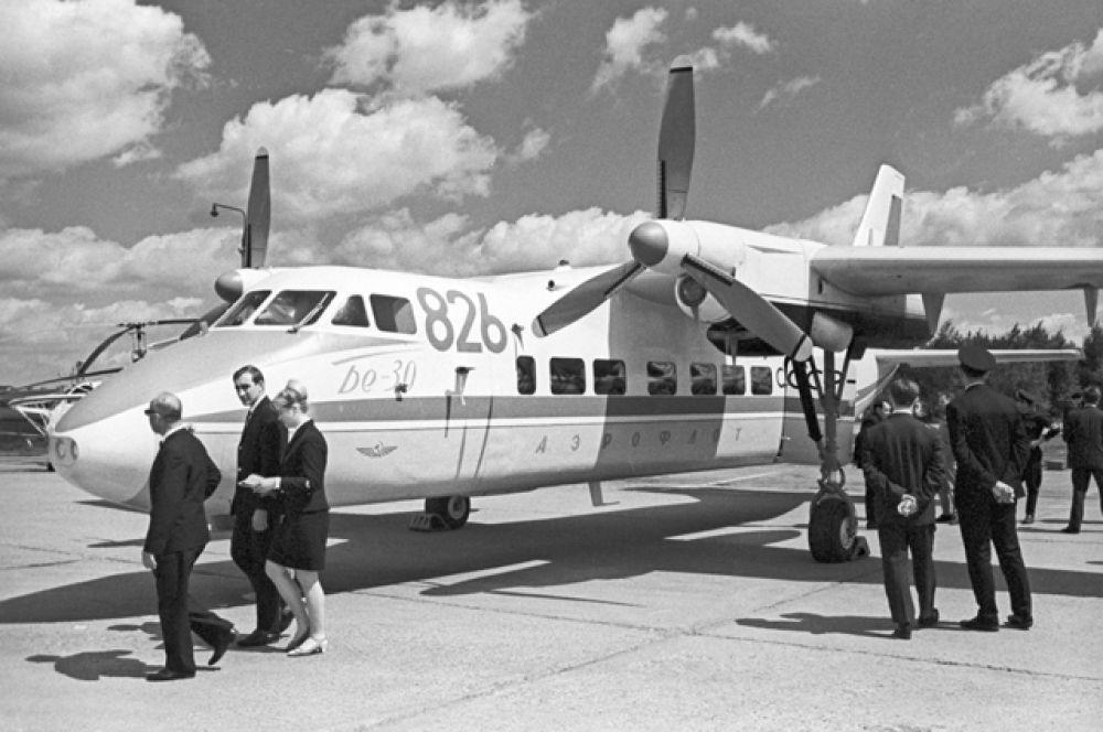 Советский самолет «Бе-30», 1969 год.