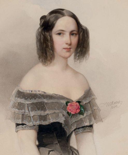 Наталья Николаевна Гончарова — жена Пушкина.