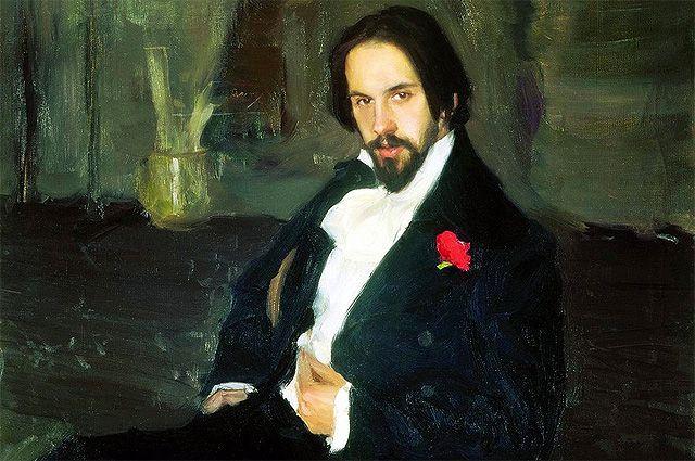 Портрет художника Ивана Билибина, Кустодиев, 1901 год.