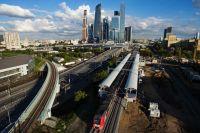 Тестовая поездка электропоезда «Ласточка» по Московской кольцевой железной дороге (МКЖД).