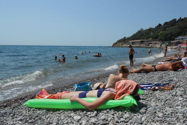 Пляжи в Алупке хороши, но не ухожены.