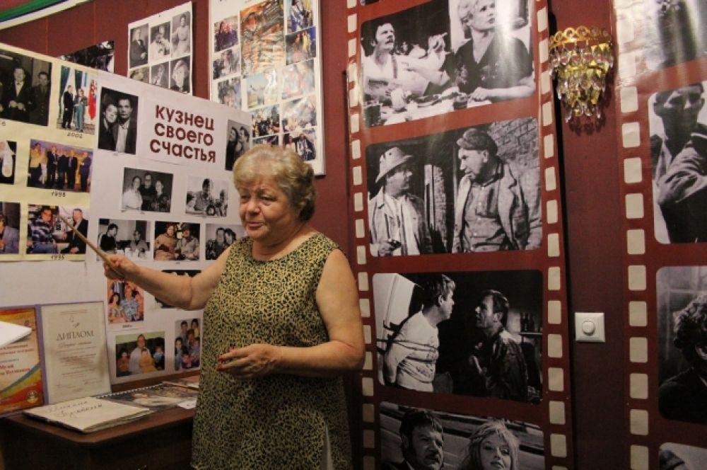 Вдова Михаила Ивановича – Ирина Константиновна Лаврова-Пуговкина, проводит экскурсии по музею и делится воспоминаниями о всенародно любимом актёре и муже.