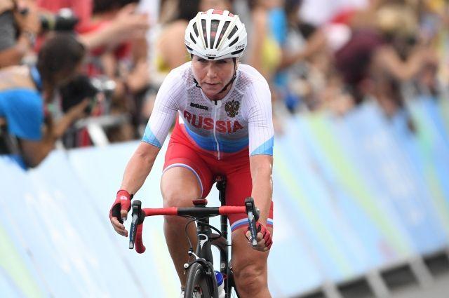 Велогонщица Ольга Забелинская завоевала серебряную медаль в индивидуальной гонке с раздельным стартом.