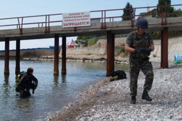 Дайвер отыскал три скоростные мины надне моря около Ланжерона вОдессе