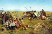 Константин Маковский «Крестьянский обед во время жатвы», 1871 год.