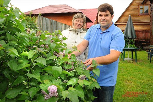 Сергей Бабаев с женой.