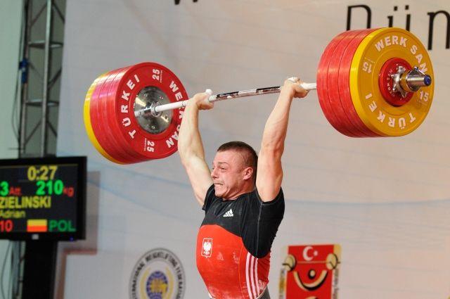 Допинг-проба тяжелоатлета Адриана Зелиньского дала хороший результат