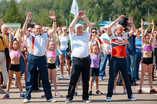 Первые лица города приняли активное участие в спортивных состязаниях.