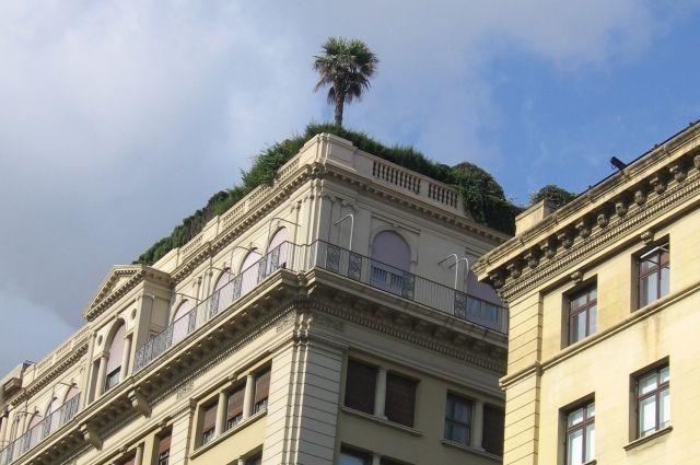 Зачем в старых кирпичных пятиэтажках красят первый этаж?