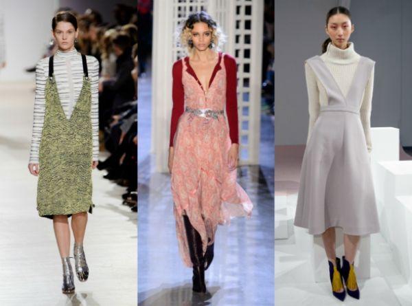 Абсолютное ноу-хау - свитер поверх платья. Такой наряд может подойти как к походу на работу так и в кино