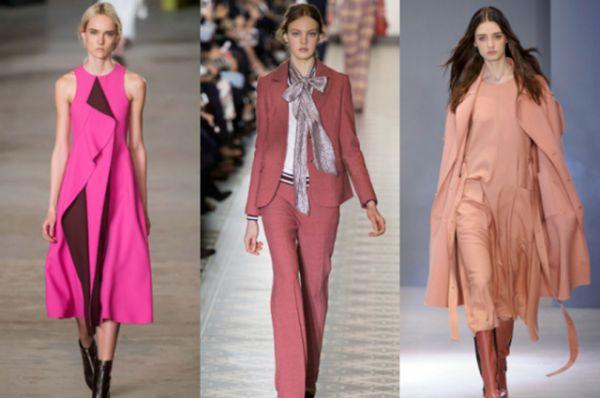 Актуальными цветами осенней одежды станут розовый и нежные оттенки красного