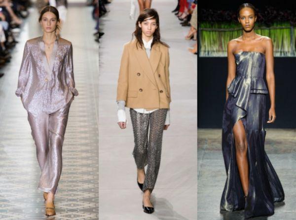 Новым хитом осени также станет одежда с металлическим отблиском