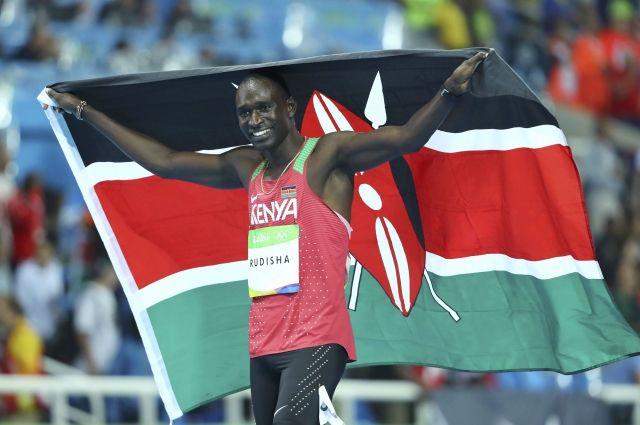 Кениец Рудиша— 2-кратный олимпийский чемпион вбеге на800м