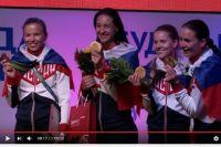 Юлия Гаврилова (крайняя слева) победила в составе сборной