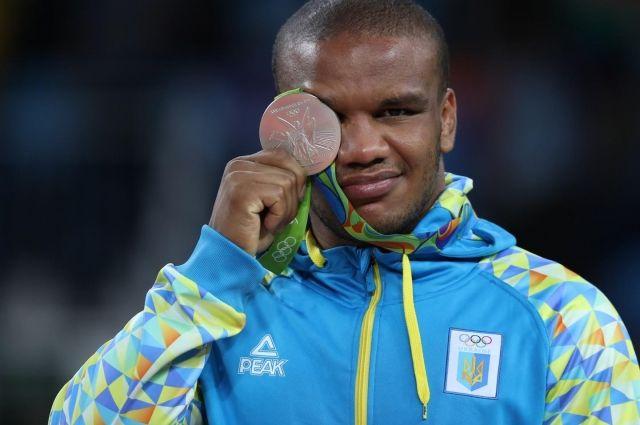 Жан Беленюк на награждении в Рио
