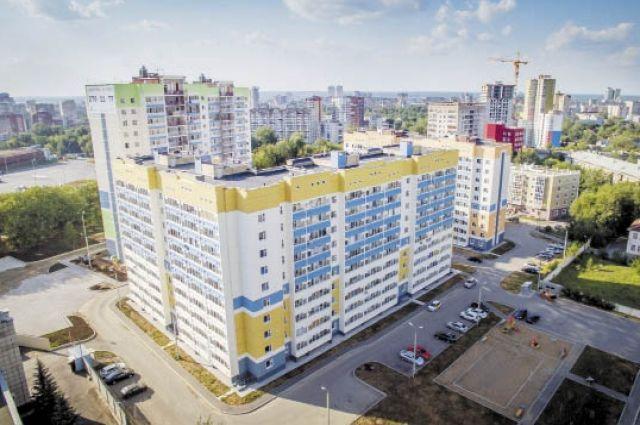 Жилой комплекс «589-й квартал» в Дзержинском районе Перми. На месте старых бараков здесь появились современные дома.
