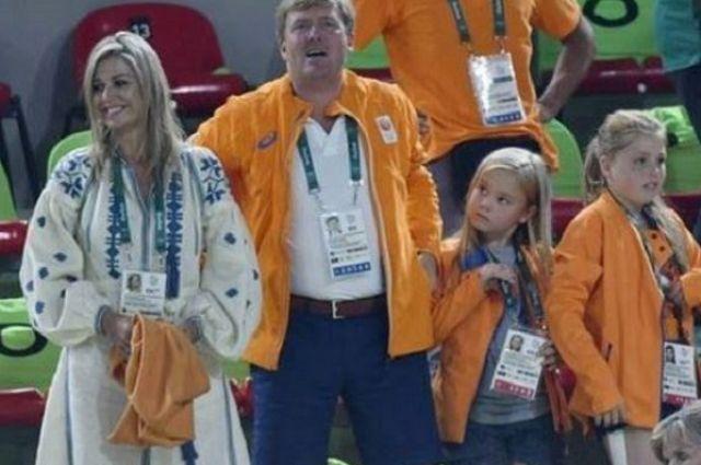 Королевская семья на трибуне Олимпиады