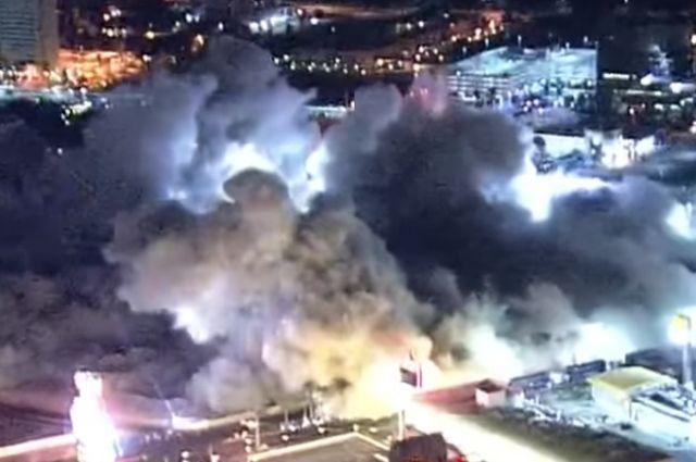 ВЛас-Вегасе взрывом разрушили одно изсамых знаменитых казино