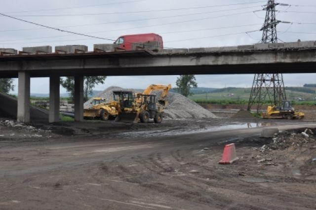 ВИркутске асфальтирование наПокровской развязке планируется закончить к15октября