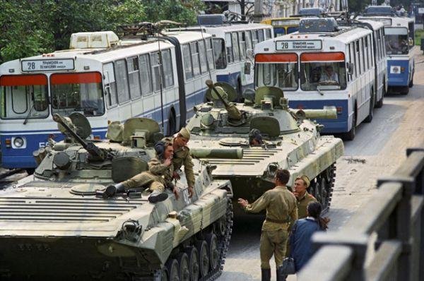 Ввод войск в Москву 19 августа 1991 года.