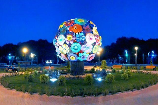 Ночь в Центральном парке Тулы