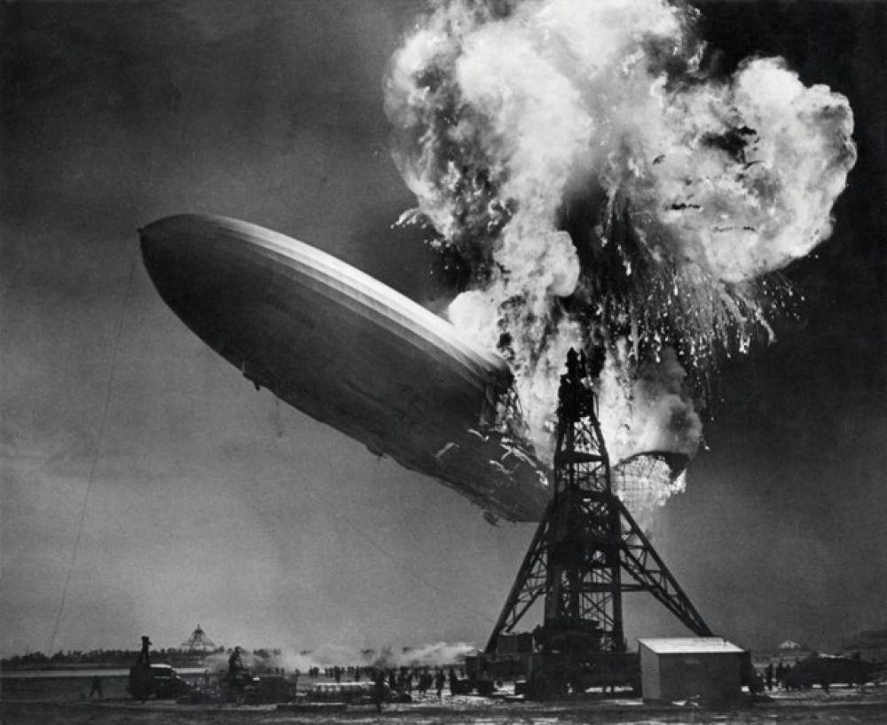 Взрыв дирижабля Гинденбург в Нью-Джерси, 1937 год.