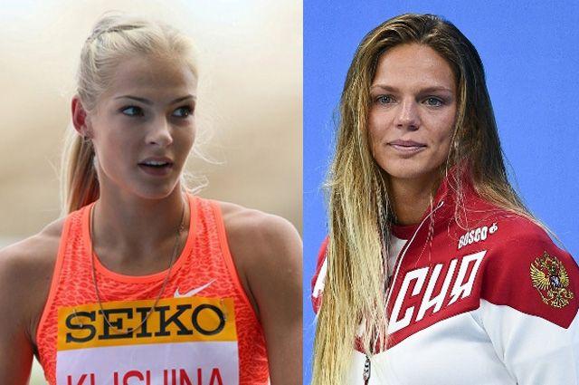 Дарья Клишина и Юлия Ефимова. Фото: РИА Новости и globallookpress.com