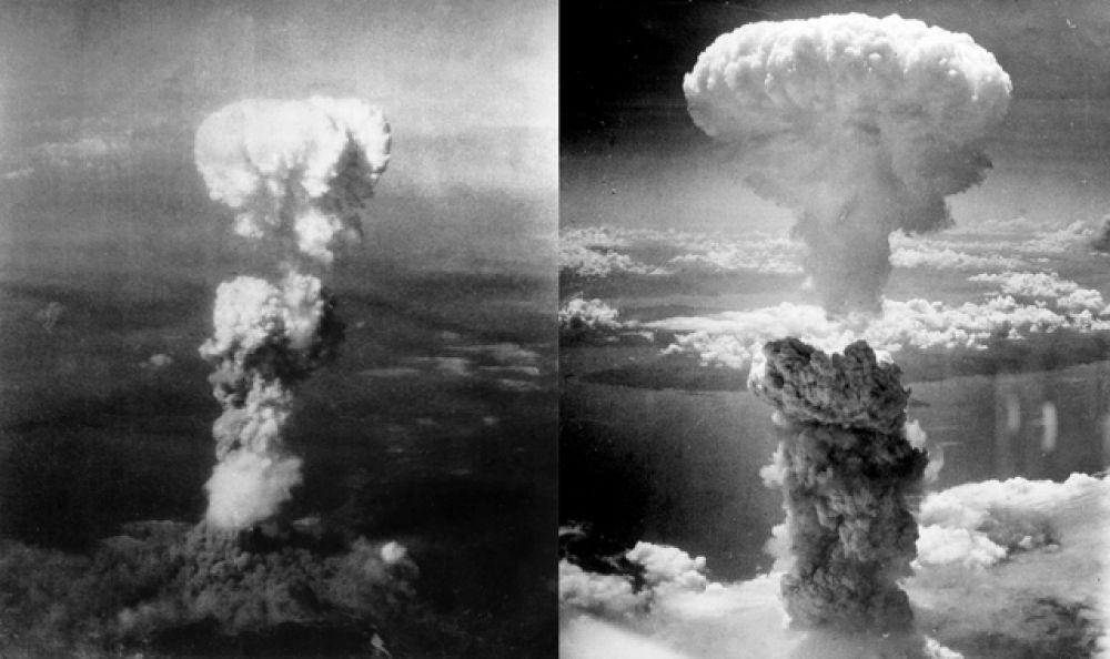 Ядерный гриб над Хиросимой и Нагасаки, 6 – 9 августа 1945 года.