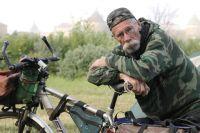 Юрий Филимонов путешествует по России на велосипеде.