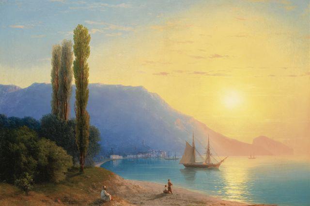 Иван Айвазовский. «Закат над Ялтой», 1861.