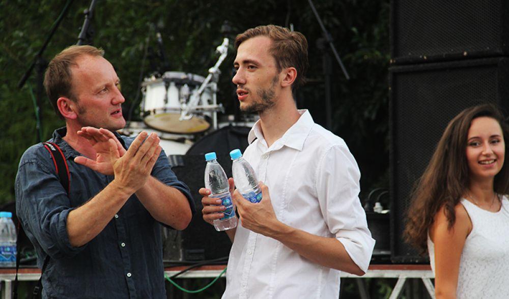 Куратор выставки с немецкой стороны Матиас Шуман и директор программы «Ульяновск – литературный город ЮНЕСКО» Павел Андреев