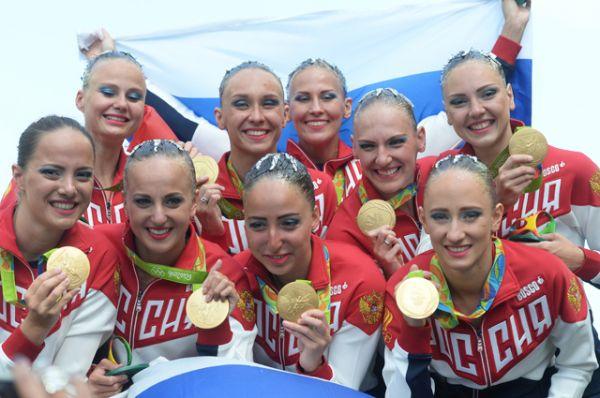 20 августа россиянки завоевали золотые медали в произвольной программе групповых соревнований по синхронному плаванию на XXXI летних Олимпийских играх.