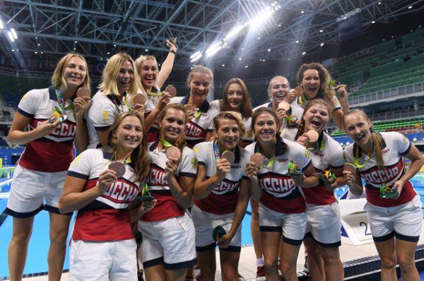 В 14 день Олимпиады российские спортсменки завоевали бронзовые медали в соревнованиях по водному поло.