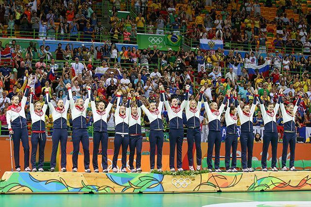 Женская сборная России по гандболу.