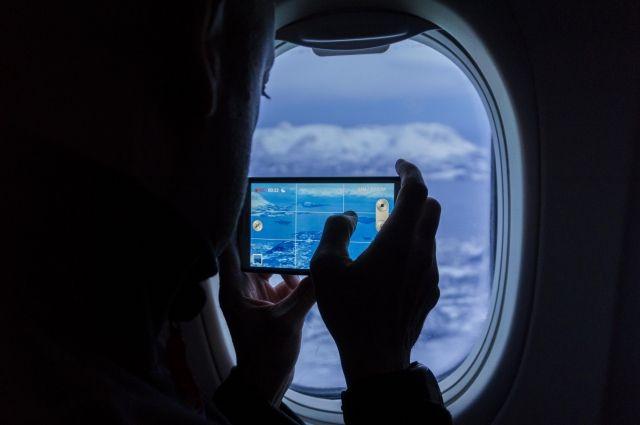 есть ловит в самолете интернет
