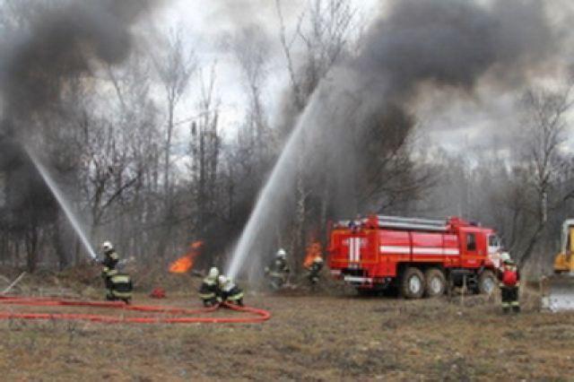 НаКамчатке гасят сверепый пожар вблизи села Ачайваям