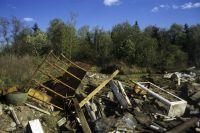 Стихийная свалка в Омске образовалась за месяц.