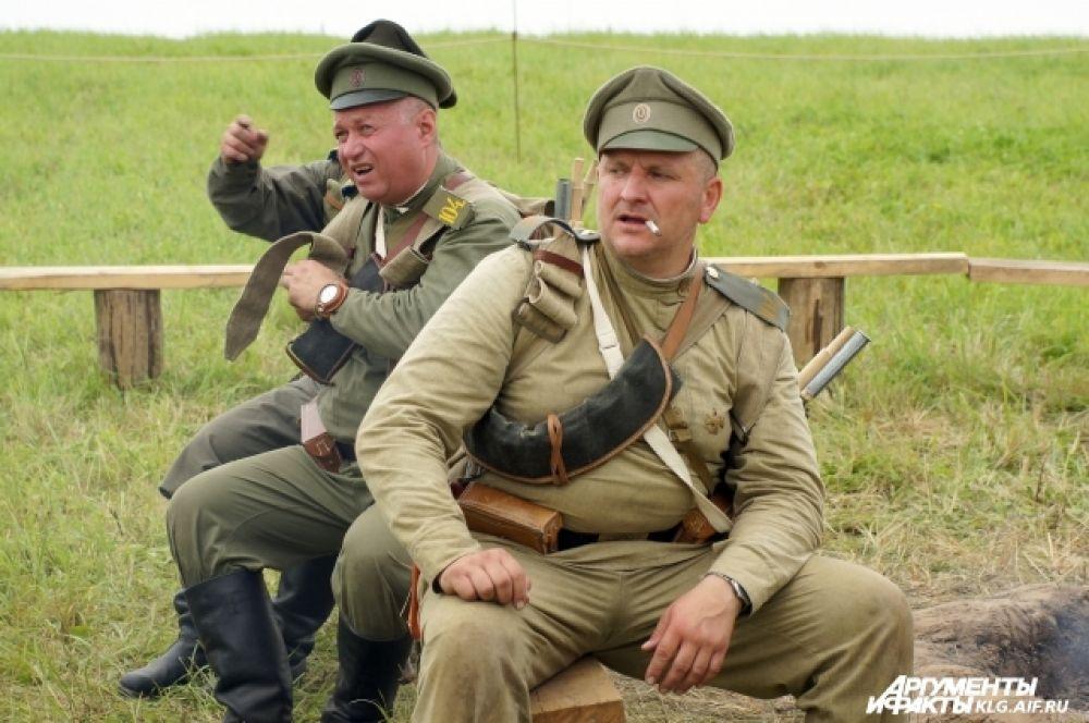 Русские солдаты на отдыхе.