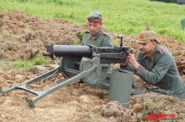 Немецкая артиллерия.