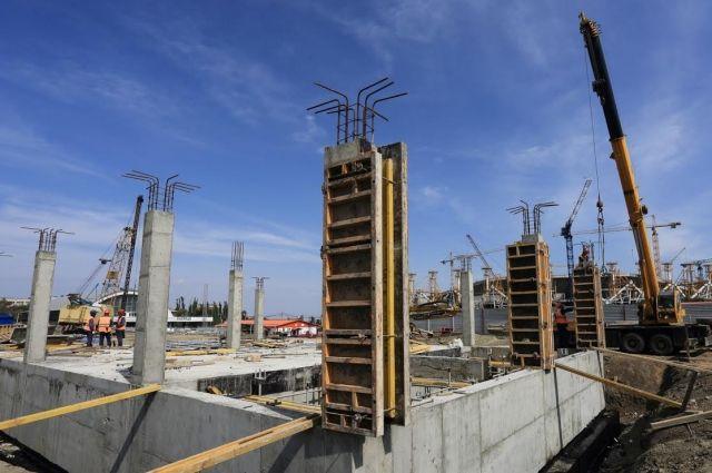 Настадионе «Волгоград Арена» начали строить билетные кассы ипроходные