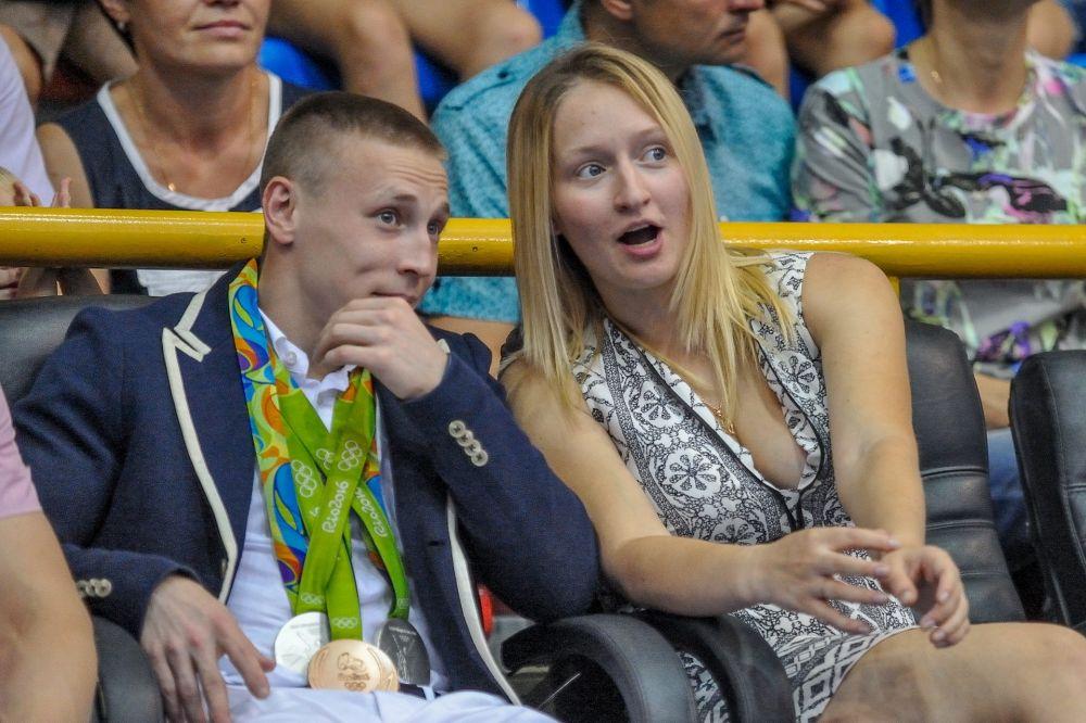 Денис Аблязин с будущей супругой - Ксенией Семеновой, чемпионкой мира и Европы по спортивной гимнастике