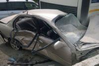 Некоторые машины оказались сильно помятыми