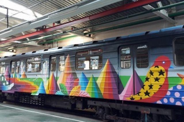 Встоличном метро запускают очередной арт-поезд