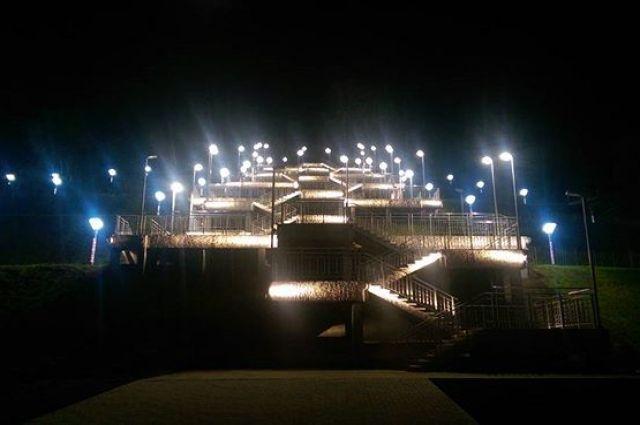 Лестница вНагорный парк практически готова— Мэрия Барнаула