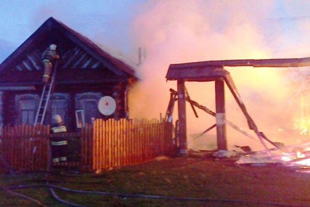 Пожар в д. Собаккасы Чебоксарского района Чувашии