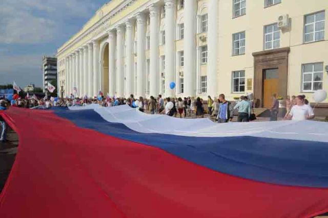 20-метровый флаг – особая гордость за Отечество.