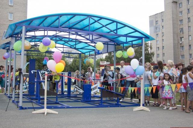 ВТюмени открыли наибольшую врегионе уличную спортплощадку для воркаута